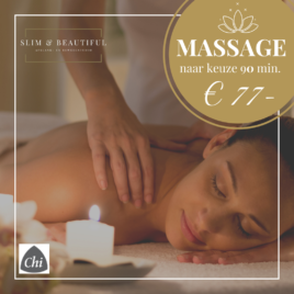 Massage naar keuze – 90 min –